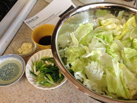 Stir fry lettuce prep 1