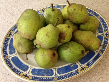 1 Pears on platter